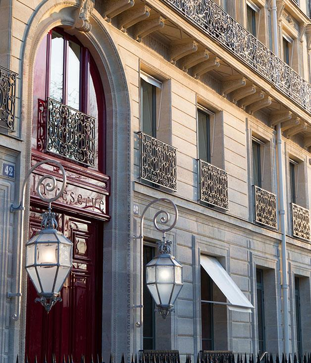 **La Réserve** Swiss hotelier Michel Reybier spared no expense in the renovation of a 19th-century palace on Avenue Gabriel, just a few steps from the Élysée Palace, the presidential residence.