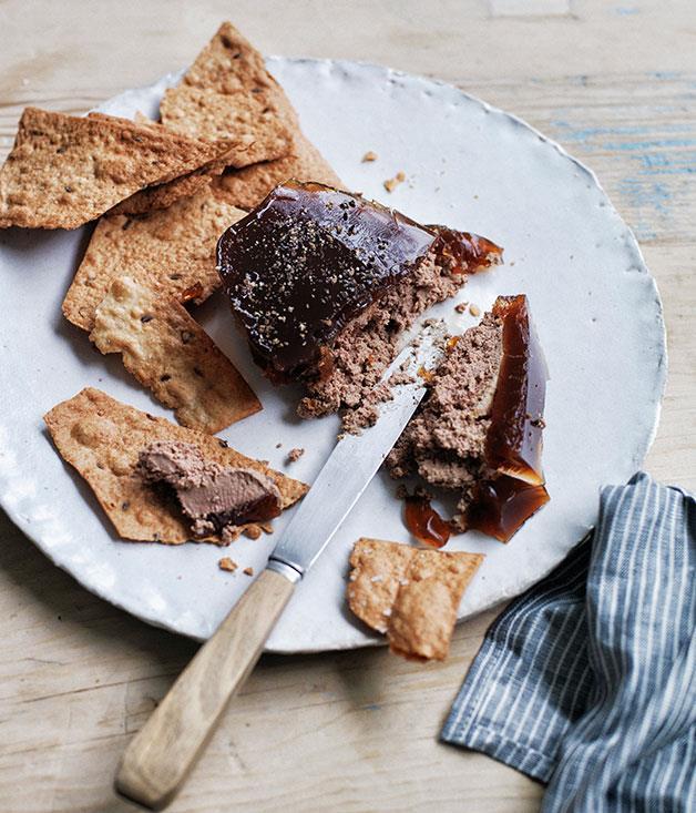 "**[Duck liver pâté](https://www.gourmettraveller.com.au/recipes/browse-all/duck-liver-pate-12369|target=""_blank"")**"
