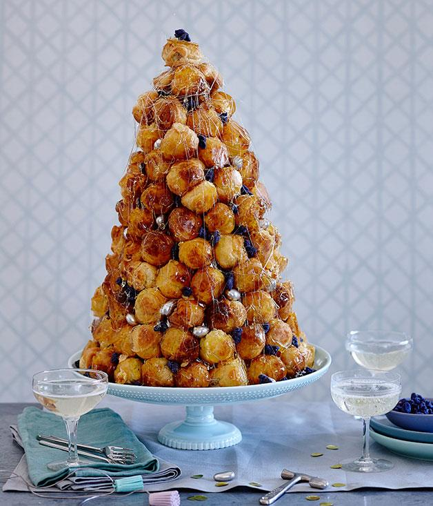 "**[Damien Pignolet's croquembouche](https://www.gourmettraveller.com.au/recipes/browse-all/croquembouche-14227|target=""_blank"")**"