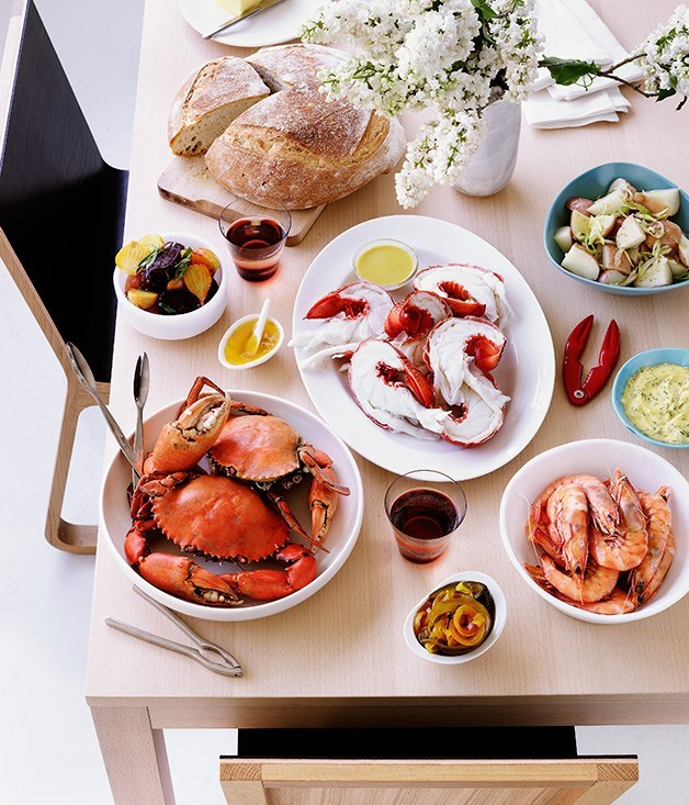 "[**Scandinavian seafood feast**](https://www.gourmettraveller.com.au/recipes/browse-all/scandinavian-seafood-feast-9925|target=""_blank"")"