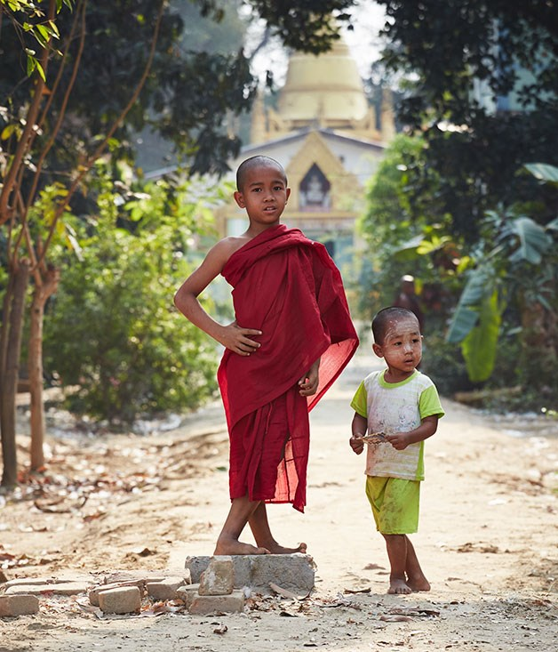 **** A street in the central Myanmar village of Yandabo