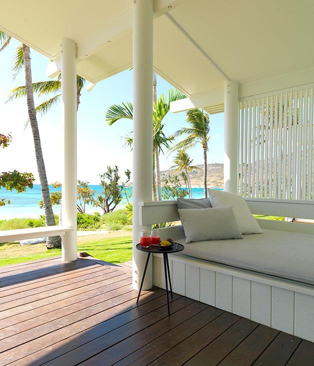 **** The veranda of an Anchor Bay Suite