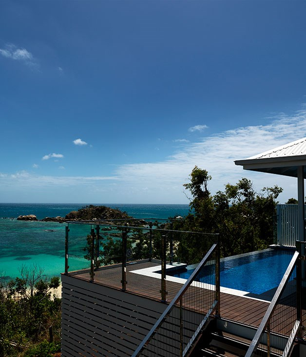 **** The pool of the two-bedroom Villa overlooking Sunset Beach