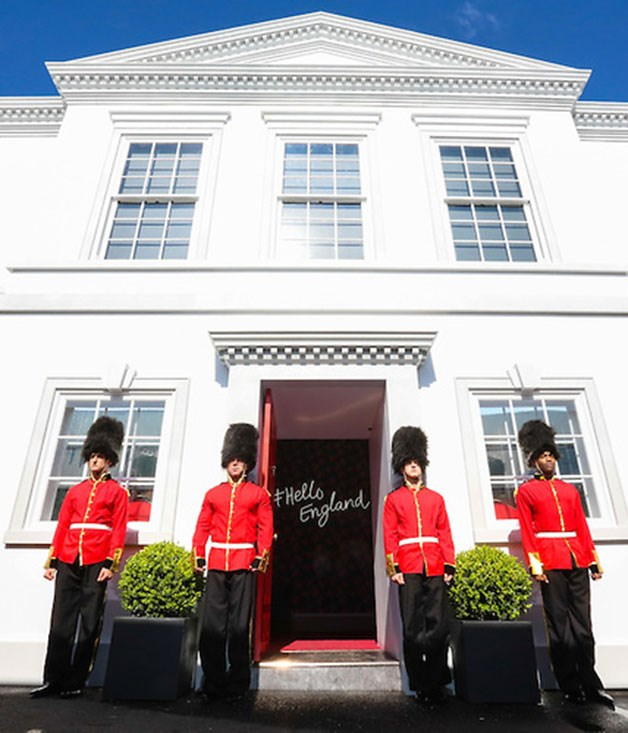 **** The Emirates marquee this year is modelled on an English manor house, complete with royal footguards.