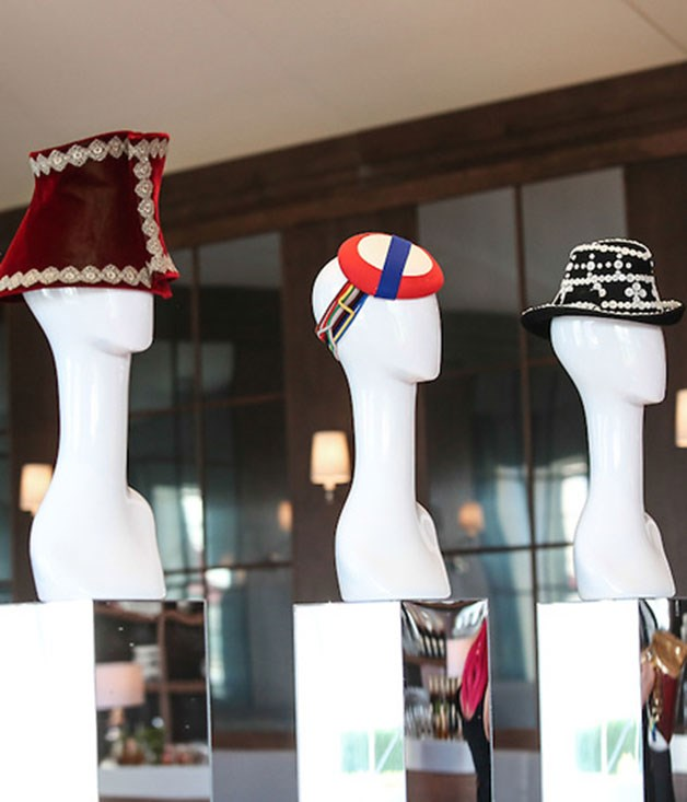 **** Emirates present creations by famed British milliner Stephen Jones, who was also a guest at Derby Day.