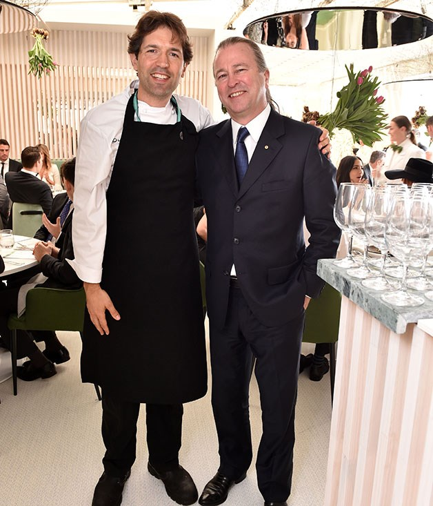 **** Chefs Ben Shewry (Attica) and Neil Perry (Rockpool Group) at the Attica pop-up restaurant within the Lexus marquee.