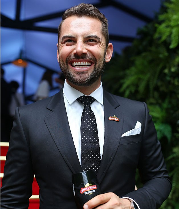 **** Actor and James Boag ambassador Daniel McPherson enjoys a beer at their marquee.