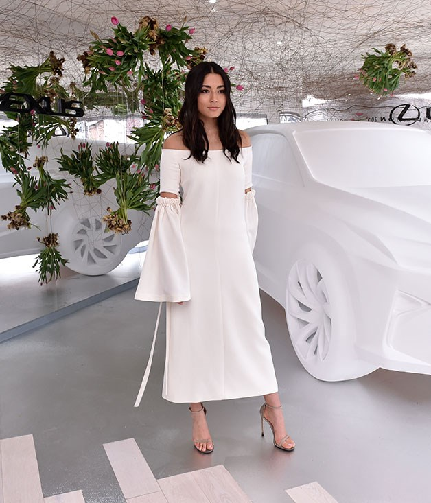 **** Australian model Jessica Gomes at the Lexus marquee.