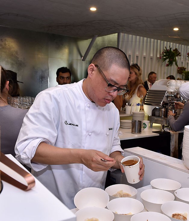 **** Sydney chef Dan Hong cooks everything from cheeseburgers to chicken katsu banh mi downstairs at the Lexus marquee.