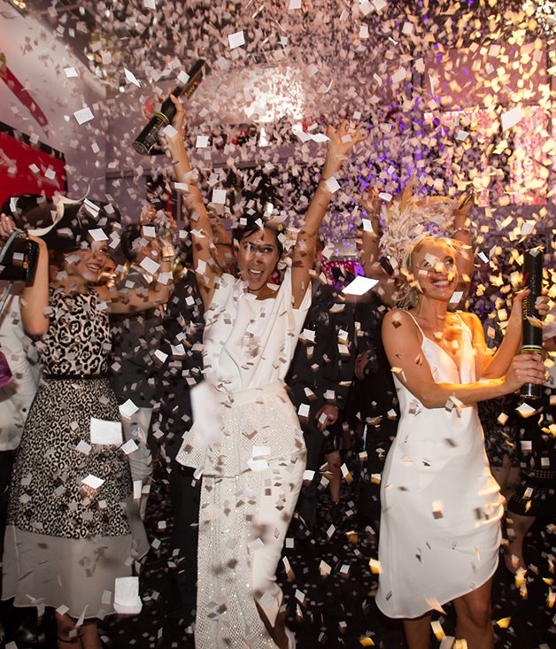 **** The G.H. Mumm marquee transforms into a European après-ski nightclub, replete with a confetti cannon.   Photo credit: SDP Media.