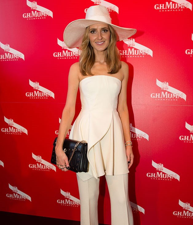 **** Fashion writer Kate Waterhouse attends the G.H. Mumm marquee.   Photo credit: SDP Media.