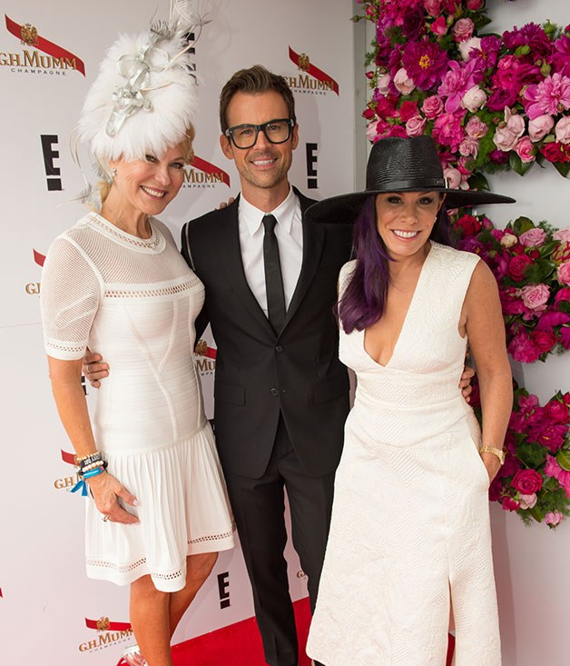 **** Kerrie-Anne Kennerley joins _Fashion Police_ hosts Brad Goreski and Melissa Rivers at the G.H. Mumm marquee.    Photo credit: SDP Media.
