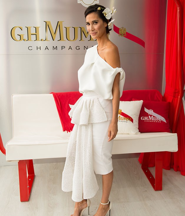 **** Lindy Klim at the G.H. Mumm marquee.   Photo credit: SDP Media.