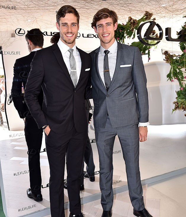 **** Models Zac and Jordan Stenmark are guests at the Joost Bakker designed Lexus marquee.