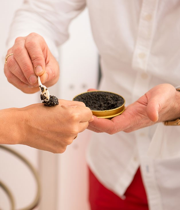 **** Yasa caviar flown in fresh from Abu Dhabi is served at the G.H. Mumm marquee.
