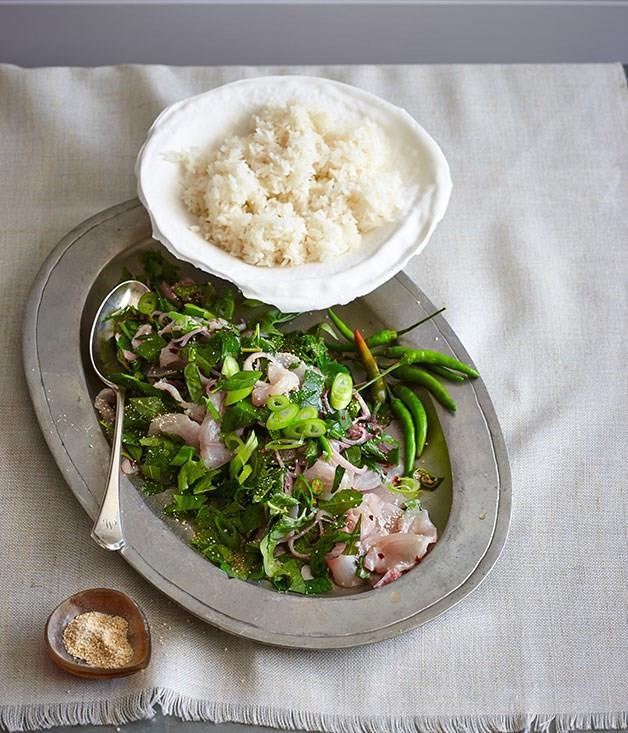 **Thai-style raw kingfish salad**