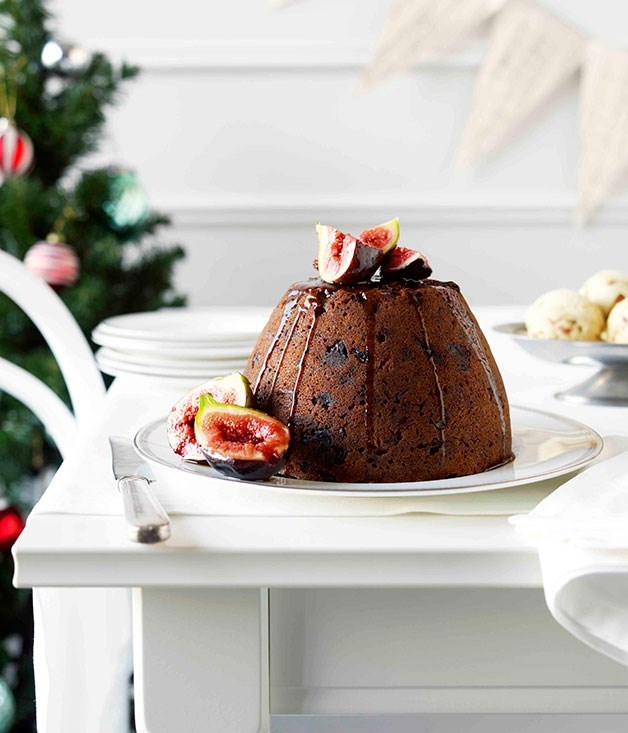 **Traditional Christmas pudding with Pedro Ximenez and brown sugar and fig ice-cream**