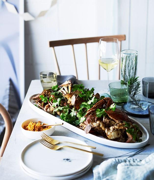 "[O Tama Carey's (Lankan Filling Station) Sri Lankan crab curry](https://www.gourmettraveller.com.au/recipes/chefs-recipes/sri-lankan-crab-curry-8354|target=""_blank"")"