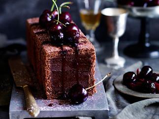 Chocolate-cherry marquise