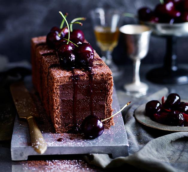 Chocolate-cherry marquise
