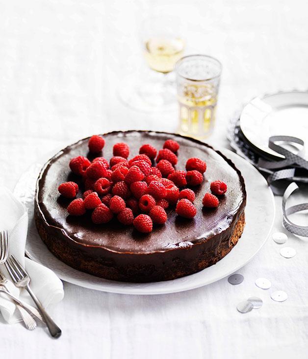 **Chocolate and hazelnut cake with espresso ganache**