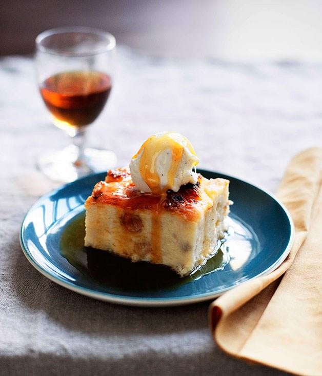"[**Bread and Sauternes pudding with cinnamon and apple caramel**](https://www.gourmettraveller.com.au/recipes/browse-all/bread-and-sauternes-pudding-with-cinnamon-and-apple-caramel-10706|target=""_blank"")"