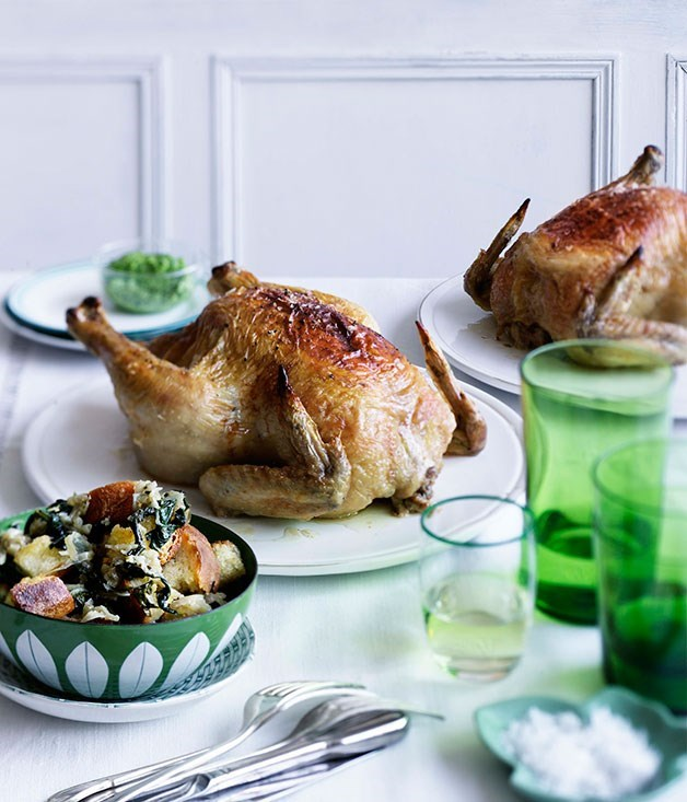**Roast chicken and bread salad**