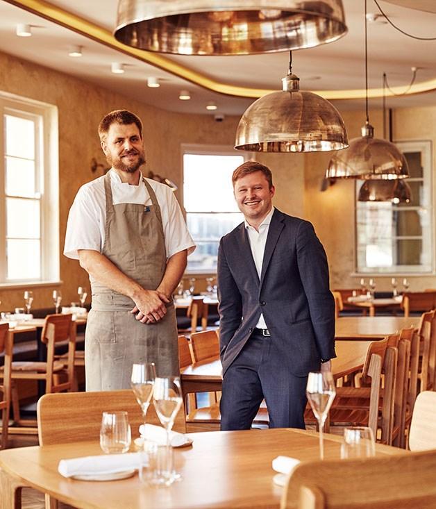 Silvereye chef Sam Miller with restaurant manager James Audas