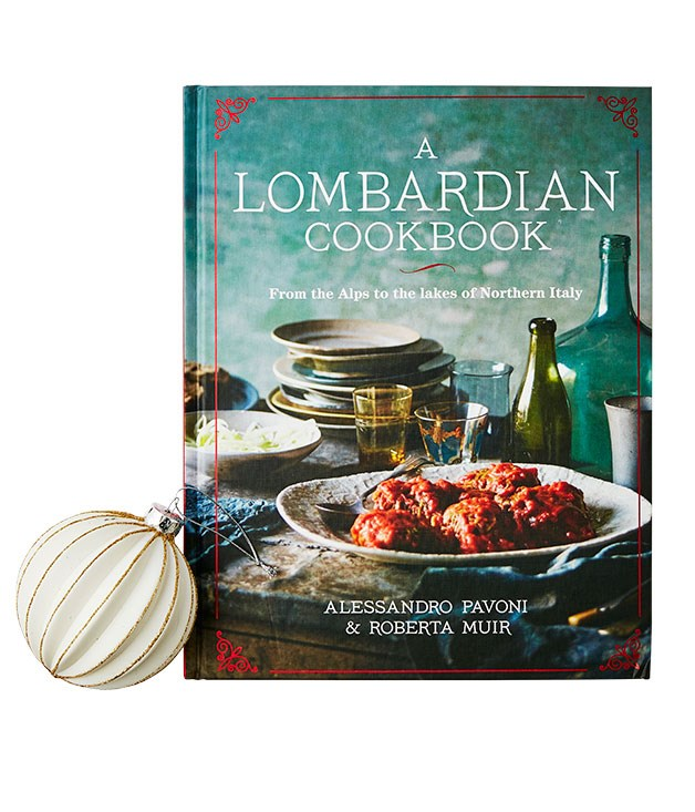 **A Lombardian Cookbook, Alessandro Pavoni & Roberta Muir** Sydney chef Alessandro Pavoni shares a lesser-known side of Italian cuisine, showcasing dishes he grew up with, whether it's spit roasts from Brescia or his grandmother's recipe for stuffed hen with radicchio. It's also something of a masterclass in risotto. Must cook: tagliatelle with fresh salami sauce.(Lantern, $59.99)