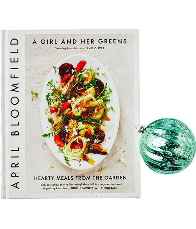 **A Girl and her Greens, April Bloomfield** Following on from her pork-rich cookbook début, The Spotted Pig chef proves she's no one-trick piglet, presenting vegetable-driven (if not vegetarian) recipes written with equal parts gusto and diligence. Must cook: braised peas with Little Gem lettuce. (Canongate, $49.99)