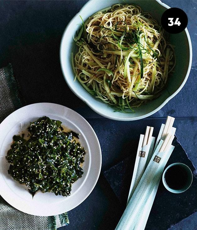 "**[Wakame seaweed salad](https://www.gourmettraveller.com.au/recipes/browse-all/wakame-seaweed-salad-9768|target=""_blank"")**"