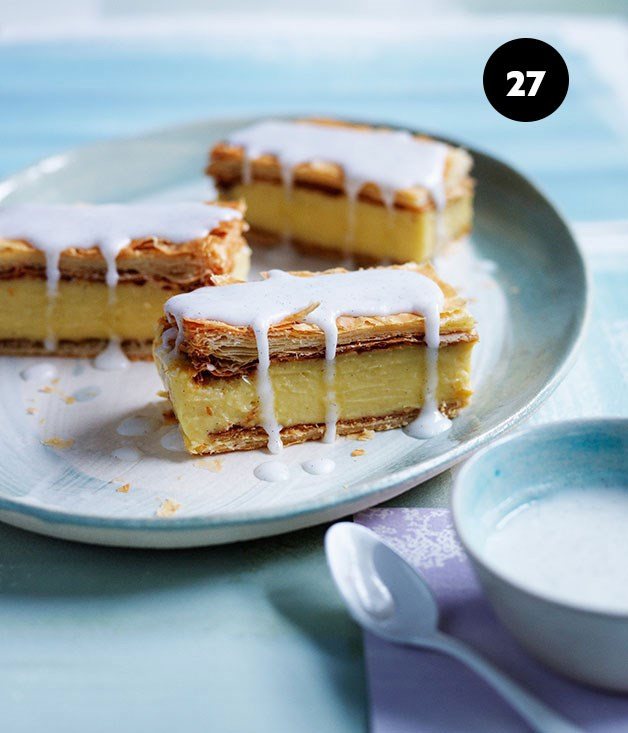 "**[Vanilla slice](https://www.gourmettraveller.com.au/recipes/browse-all/vanilla-slice-12007|target=""_blank"")**"