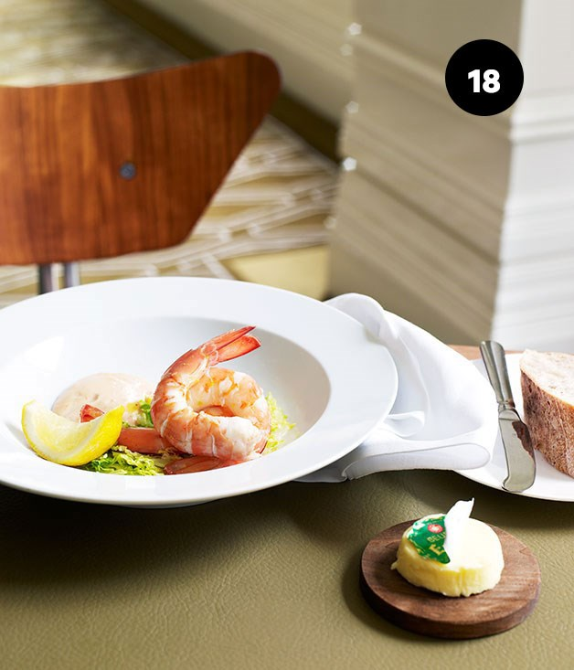 "**[Prawn cocktail](https://www.gourmettraveller.com.au/recipes/chefs-recipes/neil-perry-prawn-cocktail-7100|target=""_blank"")**"