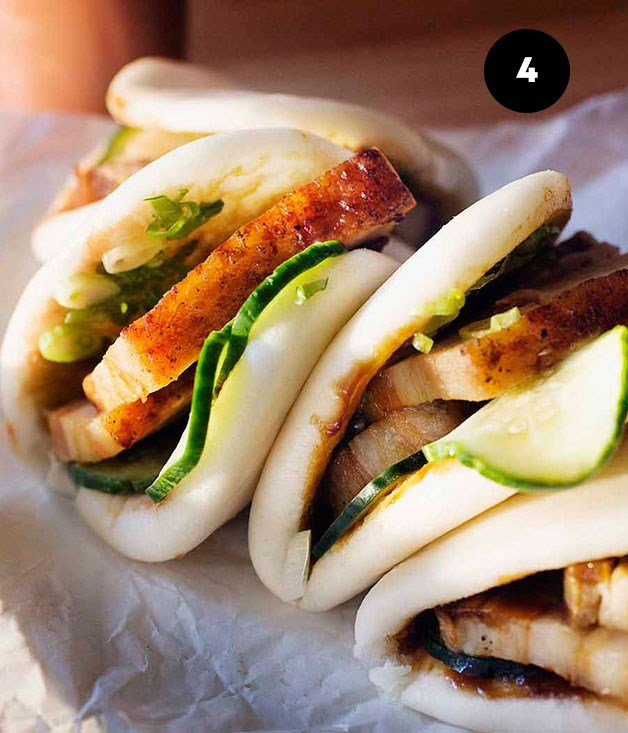 "**[Momofuku's steamed buns](https://www.gourmettraveller.com.au/recipes/chefs-recipes/momofukus-steamed-buns-7595|target=""_blank"")**"