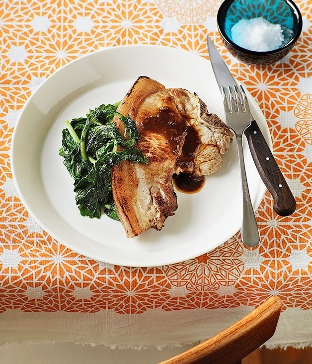 **Pork chops with fennel**