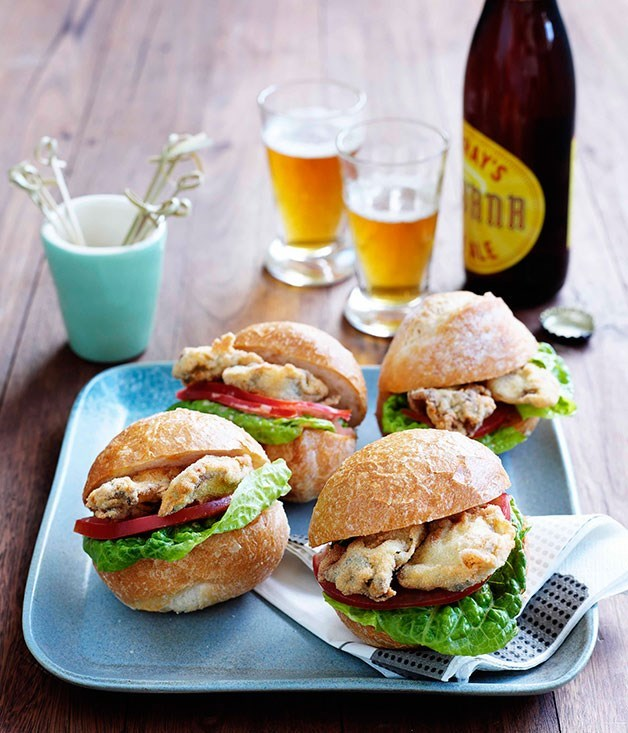 "**[Po'boys](https://www.gourmettraveller.com.au/recipes/browse-all/oyster-poboys-8721|target=""_blank"")**"