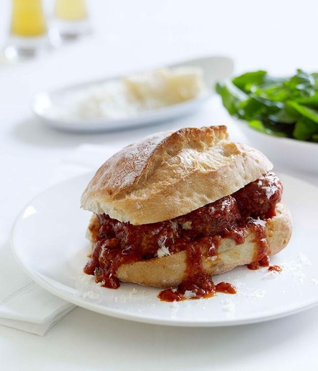 "[**Meatball sandwiches**](https://www.gourmettraveller.com.au/recipes/fast-recipes/meatball-sandwiches-13018|target=""_blank"")"