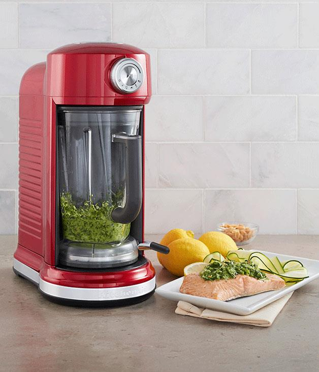 """**KitchenAid Magnetic Drive Blender** Forget the screw-on jugs and fly-away lids: KitchenAid's magnetic blender simply slots into place for soups and smoothies minus the fuss. And there's plenty of power under the hood. _$999, [kitchenaid.com.au](https://kitchenaid.com.au/ """"KitchenAid"""")_"""