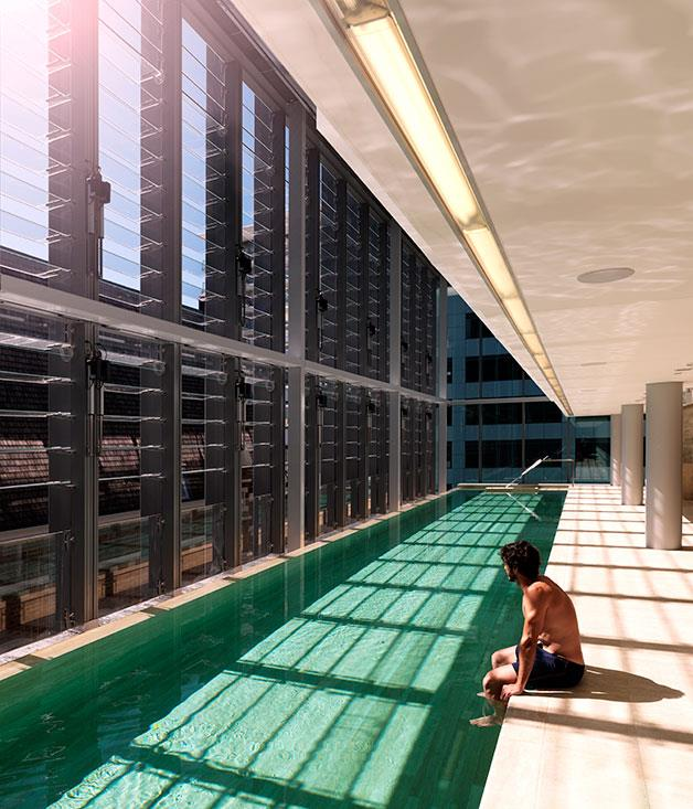 **** The pool in the third-floor annex at Como The Treasury, Perth.