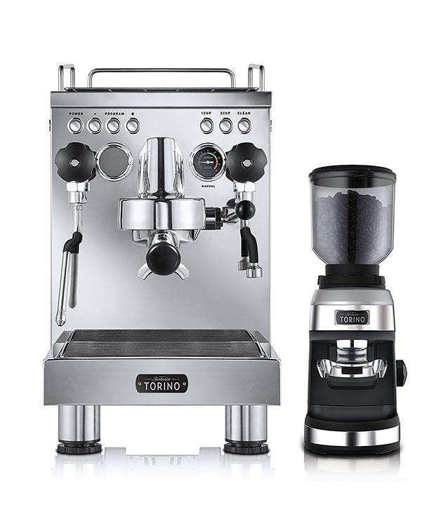"""**Sunbeam Torino espresso machine and grinder** Sunbeam's latest is this flash stainless steel coffee machine, Torino. It's a manual machine, so you can flex some serious barista muscle experimenting with your brew at home, plus you can program it to remember your order. $1,999, _[sunbeam.com.au](http://www.sunbeam.com.au """"Sunbeam"""")_"""