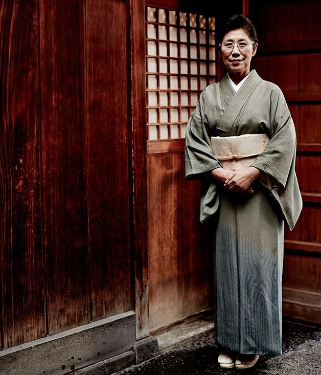 Akemi Nishimura, proprietor of Hiiragiya ryokan