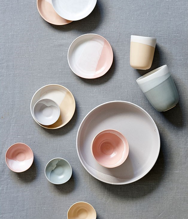 "**Brooke Thorn** Brooke Thorn throws complete dinner sets by hand on a potter's wheel and dip-paints her stoneware with colours that range from peach to nectarine, teal to sky blue. Mix and match a few colours for even more sunshine at the table.   _Brooke Thorn[](http://www.brookethorn.com.au/ ""Brooke Thorn"") ceramic tableware, from $25, [brookethorn.com.au](http://www.brookethorn.com.au/ ""Brooke Thorn Ceramic Tableware"")_"
