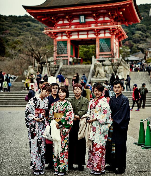 **** Outside the Gate of Deva King at Kiyomizu-dera.