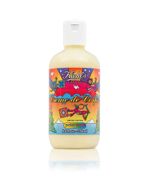 "**Kiehl's Peter Max Limited Edition Crème de Corps** This summer is set to be a scorcher, so it's best to be prepared. Made with cocoa butter and sesame oil, Kiehl's limited edition body moisturiser features a psychedelically illustrated label designed by German graphic designer Peter Max. _$40 for 250ml, [kiehls.com.au](http://www.kiehls.com.au/index.aspx ""Kiehl's"")_"