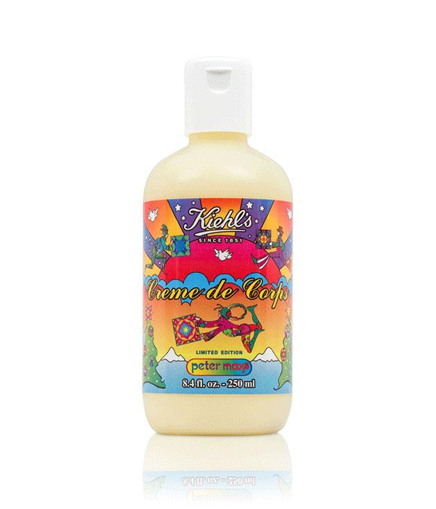 """**Kiehl's Peter Max Limited Edition Crème de Corps** This summer is set to be a scorcher, so it's best to be prepared. Made with cocoa butter and sesame oil, Kiehl's limited edition body moisturiser features a psychedelically illustrated label designed by German graphic designer Peter Max. _$40 for 250ml, [kiehls.com.au](http://www.kiehls.com.au/index.aspx """"Kiehl's"""")_"""