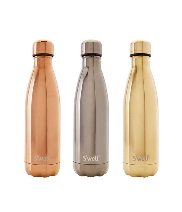 "**S'well Metallic water bottle** Beat the summer heat in style with a water bottle from S'well. The New York-based design company's latest range is made from insulated stainless steel and comes in a choice of luxe metallics and classic prints. _$42, [swellbottle.com](http://www.swellbottle.com/ ""S'well "")_"
