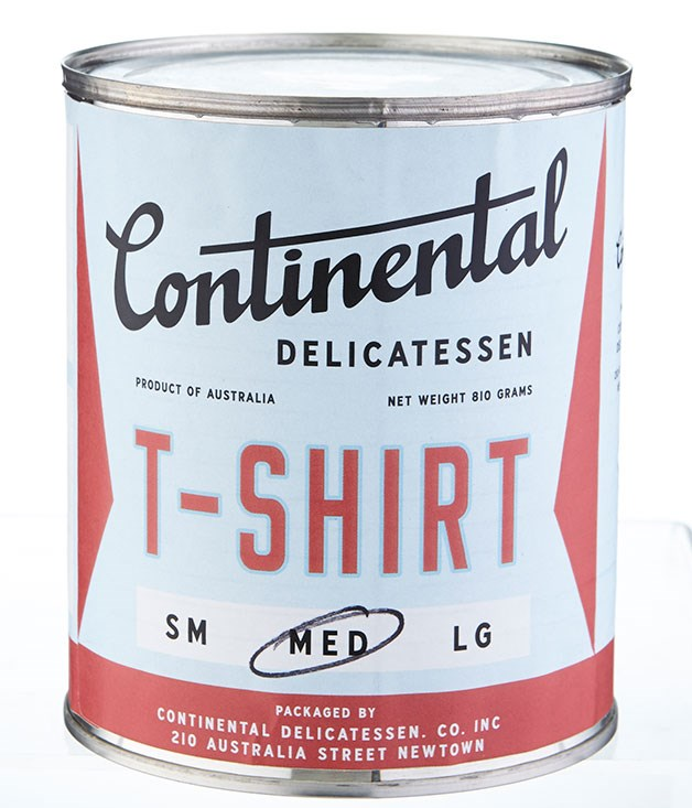 "**Continental Deli T-shirt** Newtown's Continental Deli has proven that there's a lot more to canning than tuna and tomatoes. The latest to their range is a canned Continental T-shirt which is bound to fit snugly into the Christmas stocking. _$25, [continentaldelicatessen.com.au](http://continentaldelicatessen.com.au/ ""Continental Deli"")_"