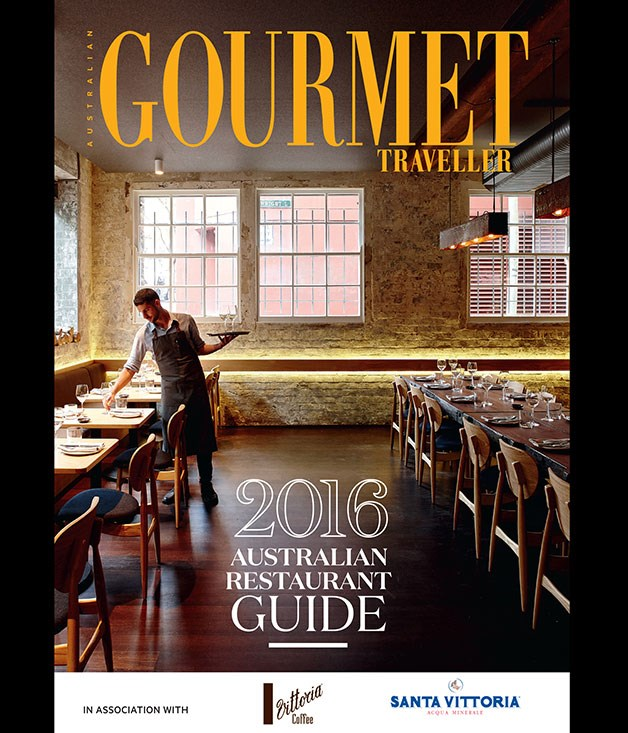 **Gourmet Traveller's 2016 Australian Restaurant Guide** Here's one for all the Secret Santas out there - we've got our own list…of more than 400 of Australia's best restaurants, checked twice. Until the 28th of December, the 2016 Australian Restaurant Guide will be available at select newsagencies nationwide. It's the gift that keeps on giving all year long; pick up yours while stocks last. _$5.95_
