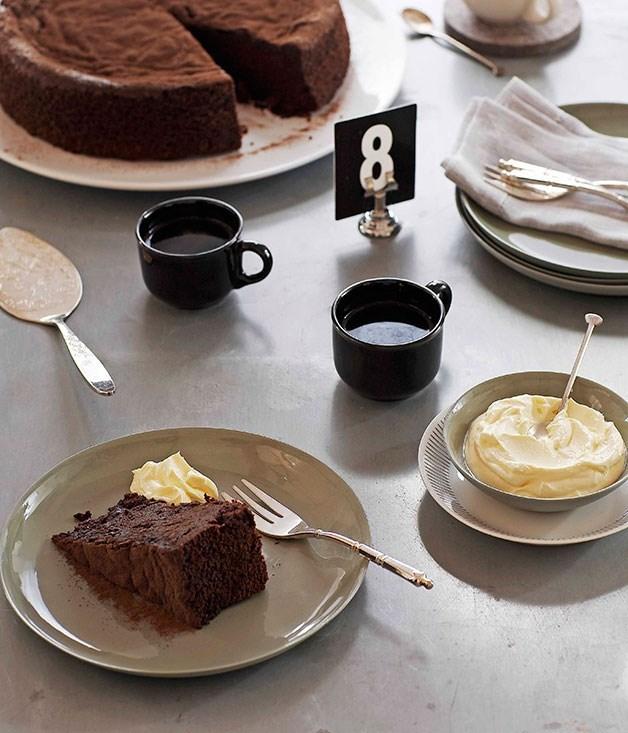 "[**Chocolate sour cherry cake**](https://www.gourmettraveller.com.au/recipes/chefs-recipes/chocolate-sour-cherry-cake-8938|target=""_blank"")"