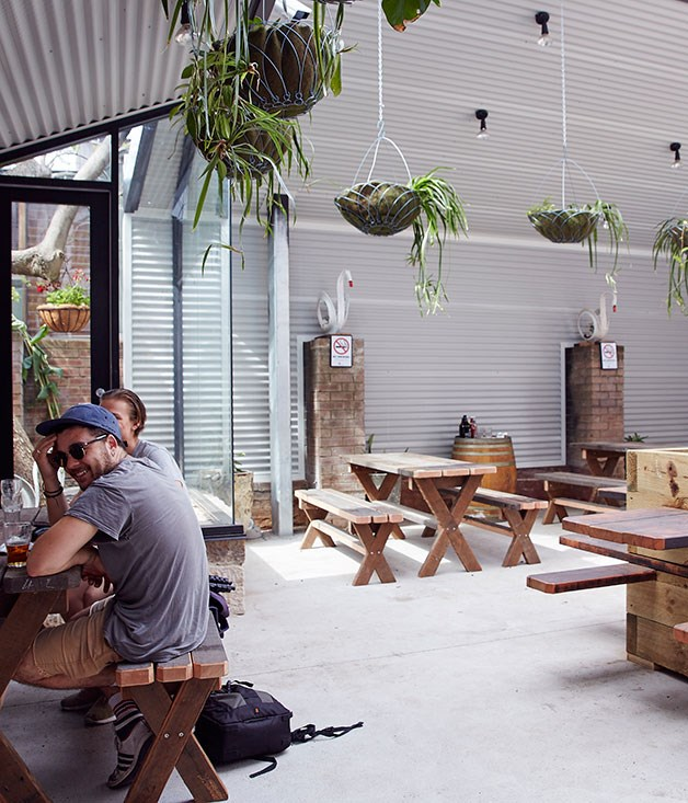 **** The light-filled indoor-outdoor space at The Unicorn.